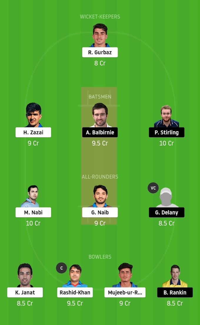 AFG vs IRE Dream11 Prediction, Team, Playing11, Best Tips For Dream11.