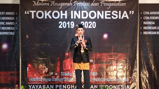 Budiyanto Dianugerahi Gelar Tokoh Indonesia Oleh Yayasan Penghargaan Indonesia