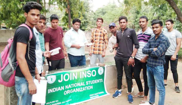 INSO set-up on Nehru College, Help Desk, Students Make Aware