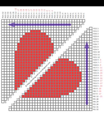 I ♥ Intarsia Washcloth - free knitting pattern