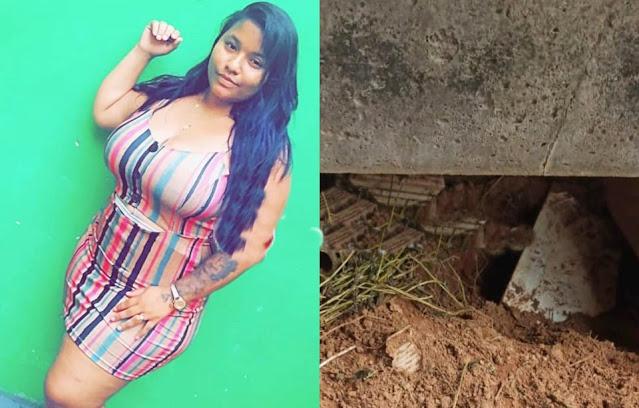 Garota de programa é presa por enterrar o filho no quintal de casa