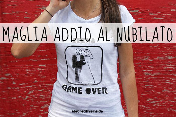 spesso Maglia Sposa 'Game Over' fai da te per addio al nubilato - ME  GG71