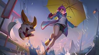 skin kagura rainy walk gratis
