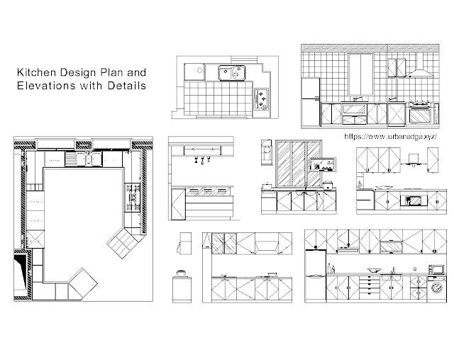 Kitchen design plan elevation free dwg cad blocks download - 10+ free cad blocks