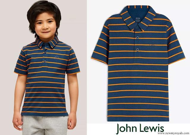 Prince George wore John Lewis polo shirt