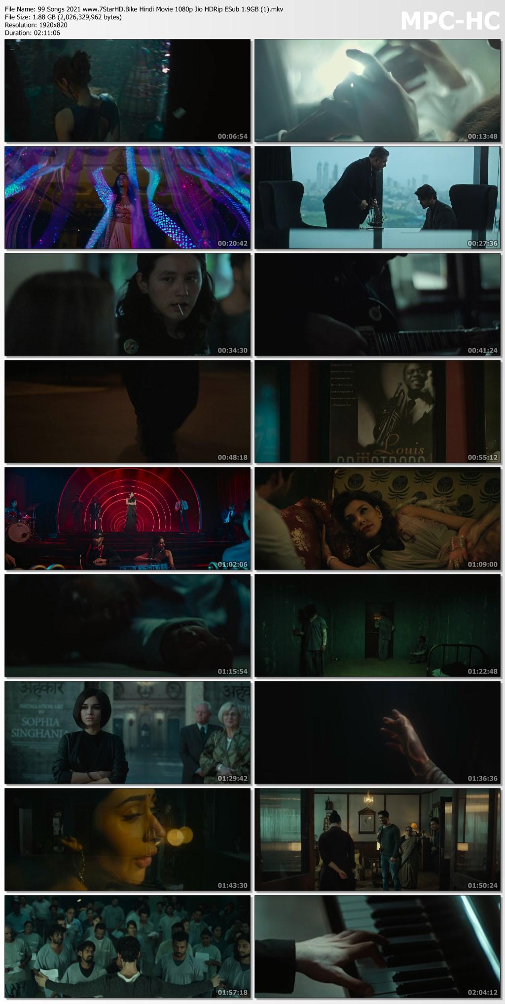 99 Songs 2021 Hindi Movie 720p Jio HDRip ESub 900MB Download