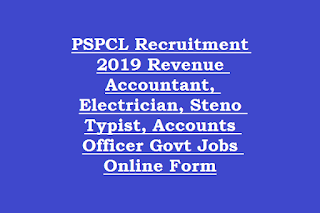 PSPCL Recruitment 2019 Revenue Accountant, Electrician, Steno Typist, Accounts Officer Govt Jobs Online Form