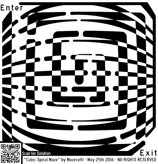 maze of a cubic spiral pattern