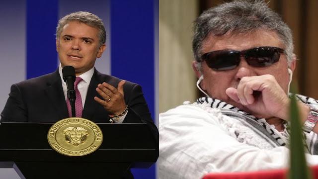 Duque dará recompensa por los compinches de Maduro: Márquez y Santrich