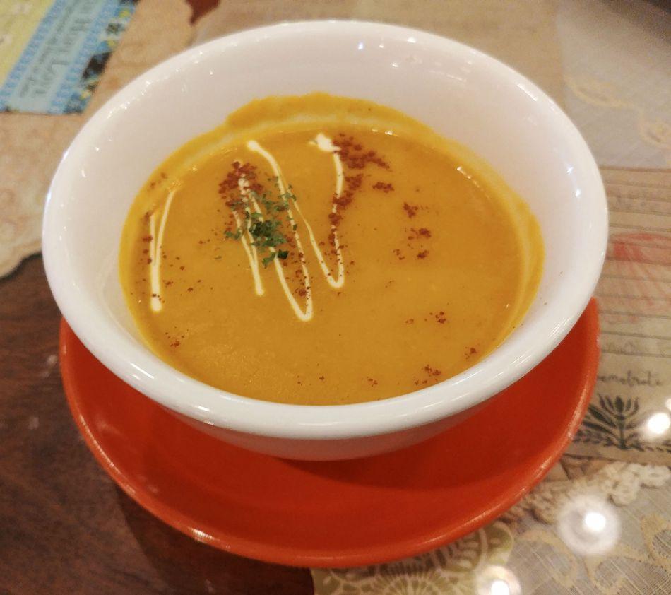 Pumpkin soup at Café Mary Grace