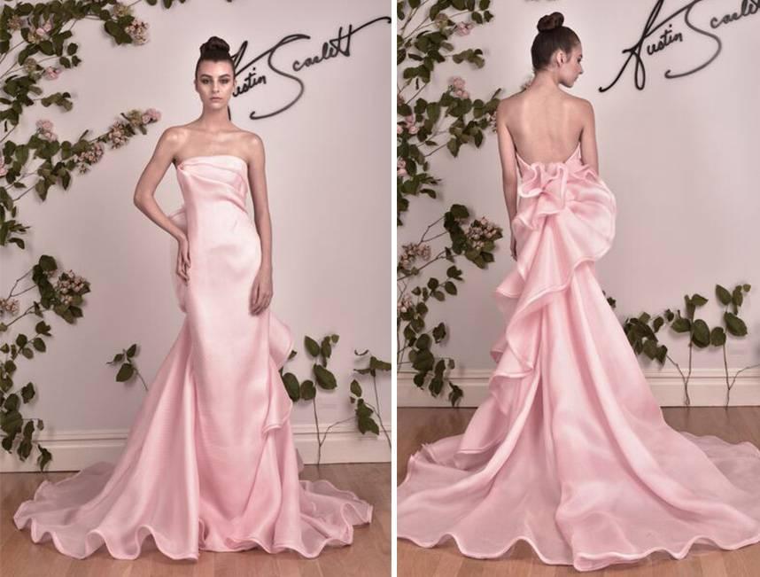 Austin Scarlett Pink Wedding Gowns 2016
