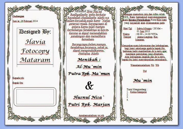 Format Undangan Pernikahan Snappigi