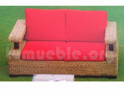 sofa hecho en rattan natural j230