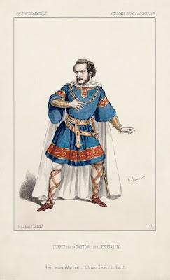 Verdi: Jérusalem - Gilbert Duprez in the premiere at the Paris Opera, by Alexandre Lacauchie