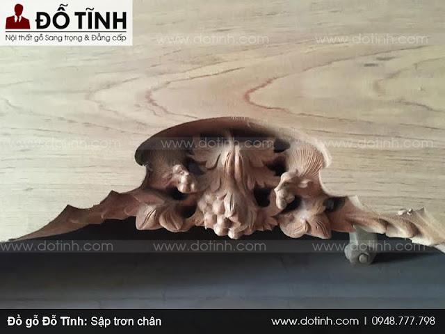 Sập trơn chân - Các loại sập gỗ phòng khách