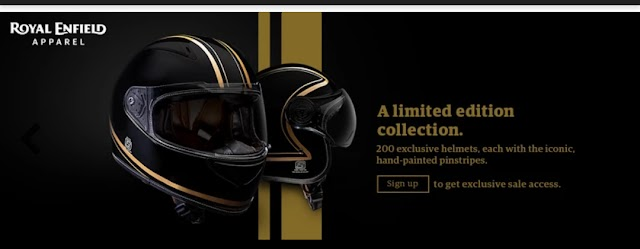 Royal Enfield launche premium helmet in only limited 200 pics.