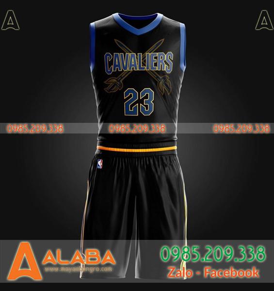 Áo bóng rổ màu đen tự thiết kế cao cấp