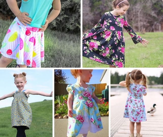 simple girls dress pattern