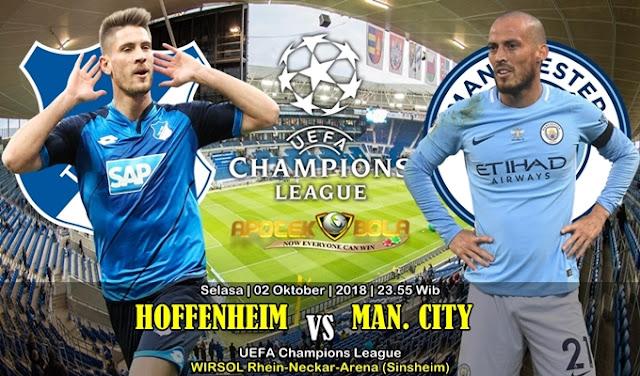 Prediksi Hoffenheim VS Manchester City 02 Oktober 2018