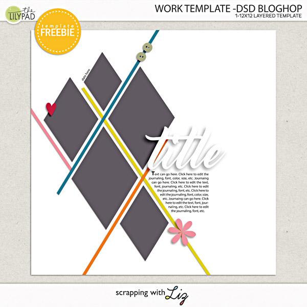 DSD Blog Hop: Free Digital Scrapbook Template