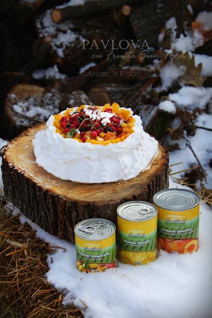 Pavlova & Mini Pavlova cu fructe Sun Food