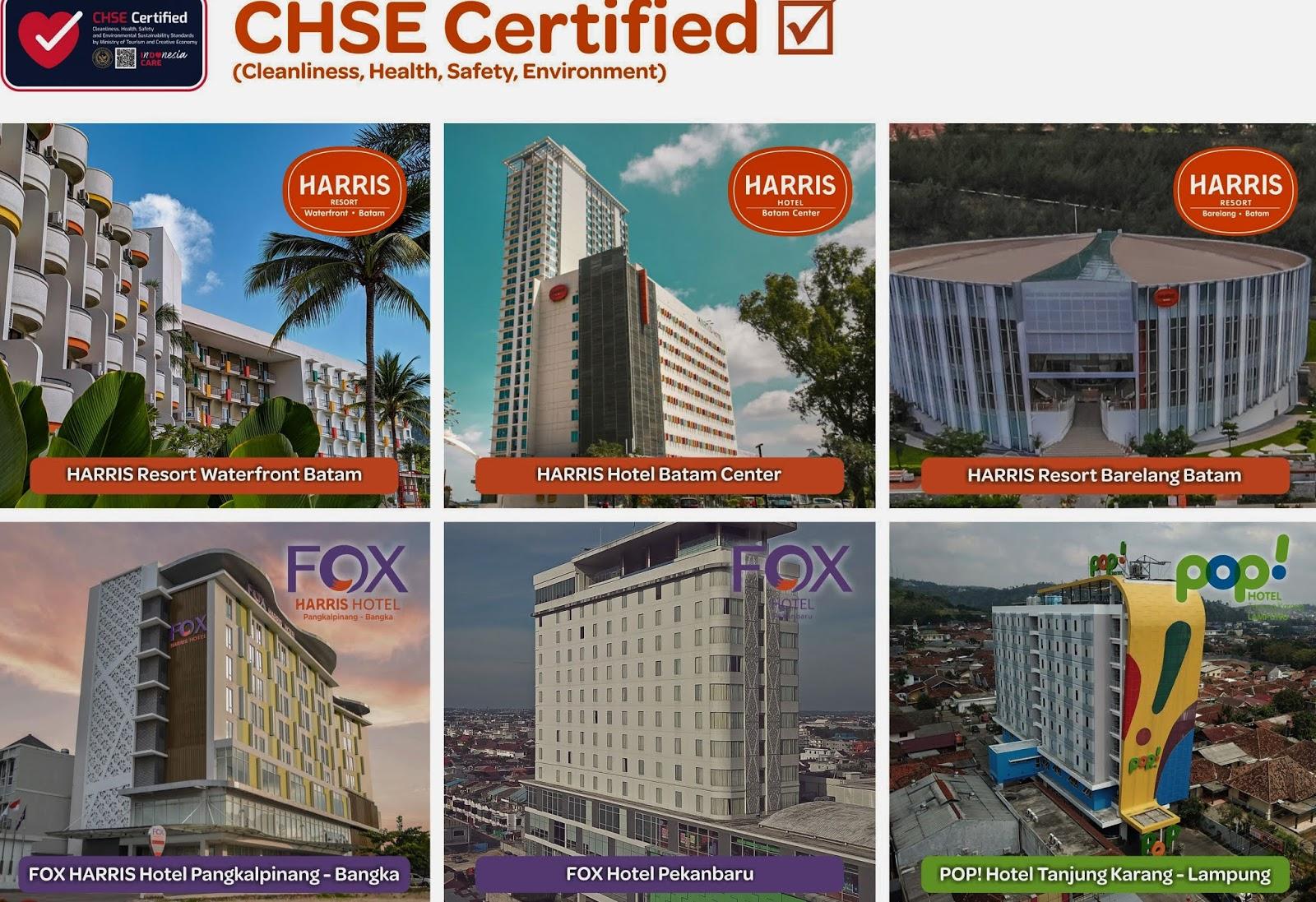 Tauzia Hotels Regional Sumatera Raih Sertifikat CHSE Kemenparekraf Batam