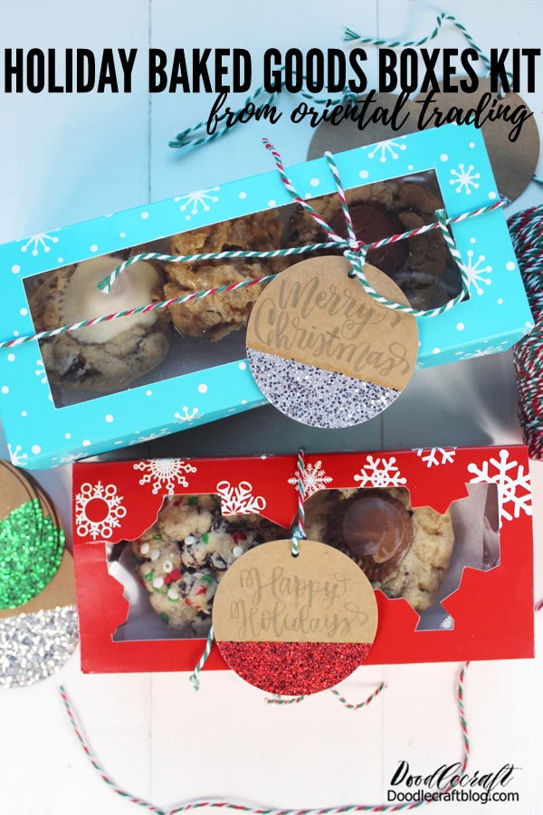 "Oriental Trading has a bunch of holiday kits for easy holiday gifting, entertaining and decorating! I picked the holiday cookie kit and I love it!     It arrives curated with everything needed for easy gifting.  During a ""normal"" or typical year, I have no issue making a bunch of baked goods and sharing it with neighbors and friends. That may still be appropriate this year, if safety measures are taken during the baking and boxing."