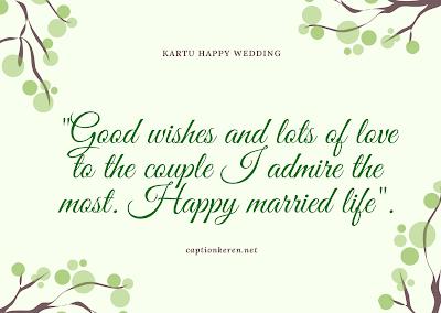 kartu & ucapan happy wedding bahasa inggris
