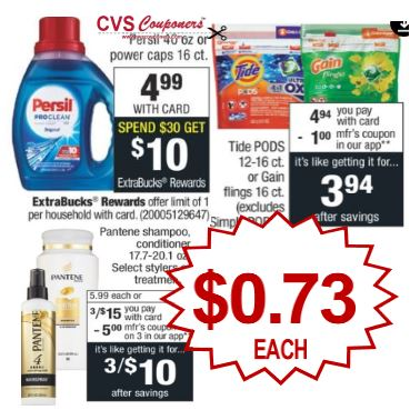 Persil, Gain, Tide Must Do CVS Deal $0.73 12-15-12-21