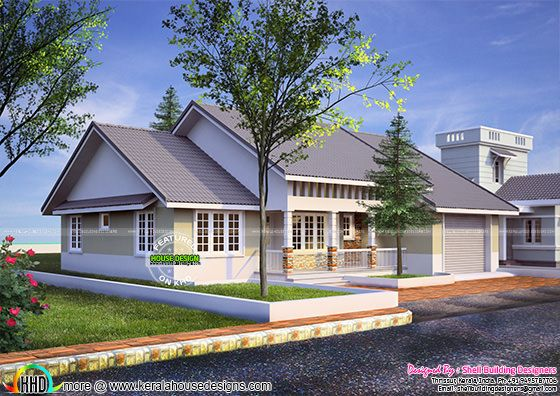 American style 1590 sq-ft home