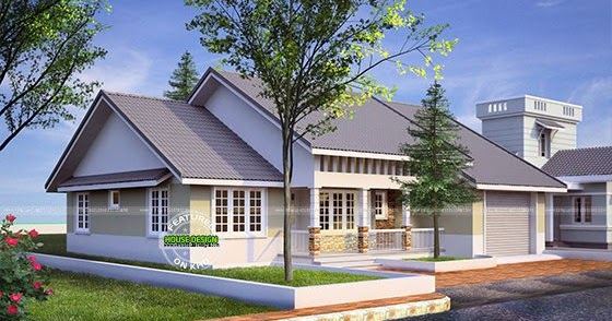 American style 1590 sq ft home kerala home design and for The space scape architects thrissur kerala