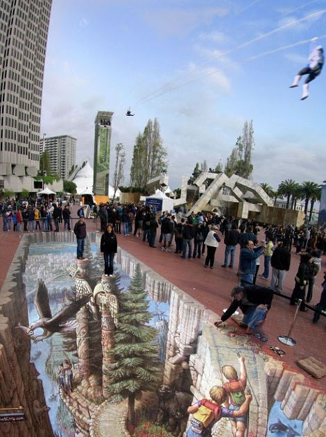 Amazing Image Review Stunning 3d Street Art On The Public