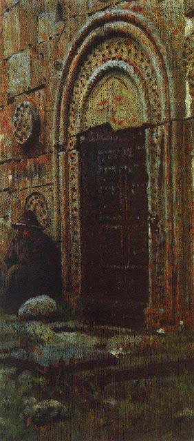 Василий Васильевич Верещагин - Входная дверь в церковь под Казбеком. 1897