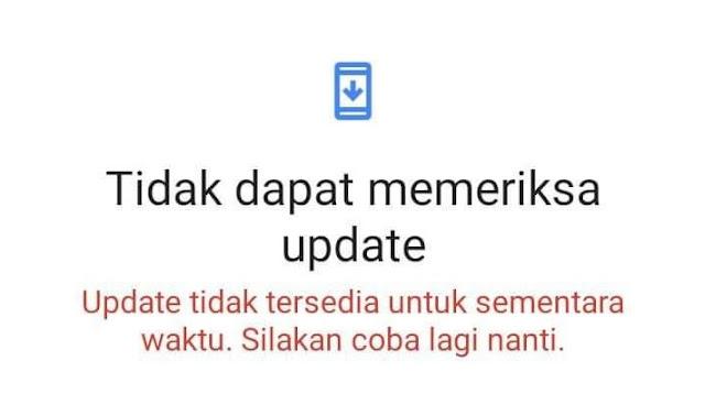 3 Tips Mengatasi Tidak Dapat Memeriksa Update di Android