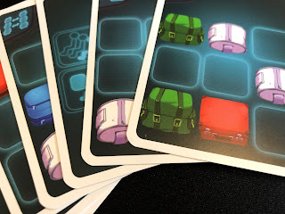 A selection of passenger cards from the Overbooked board game.