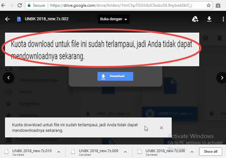 Localtechno Cara Download File Over Kuota Terlampaui Di Google Drive Dijamin Work 100