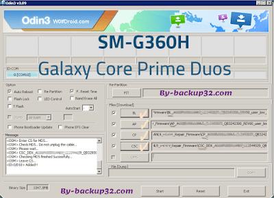 سوفت وير هاتف Galaxy Core Prime Duos موديل SM-G360H روم الاصلاح 4 ملفات تحميل مباشر