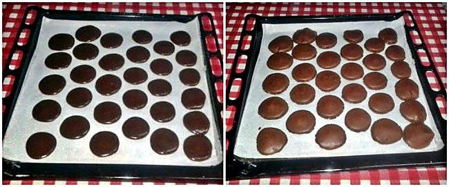 Preparación de los macarons de chocolate y caramelo