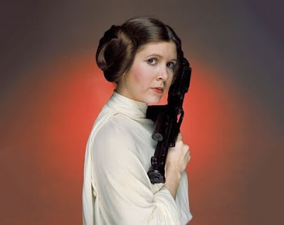 Carrie Fisher como la Princesa Leia en la saga 'Star Wars'