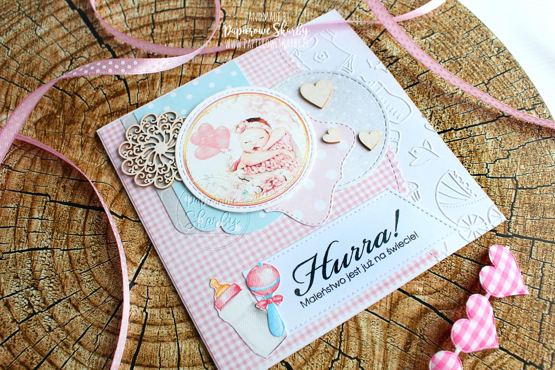 scrapbooking cardmaking ilovedigi maleństwo jest już na świecie kartka karteczka kartki narodziny pamiątka narodzin na narodziny gratulacje dla rodziców gratulacyjna dla dziewczynki dla chłopczyka