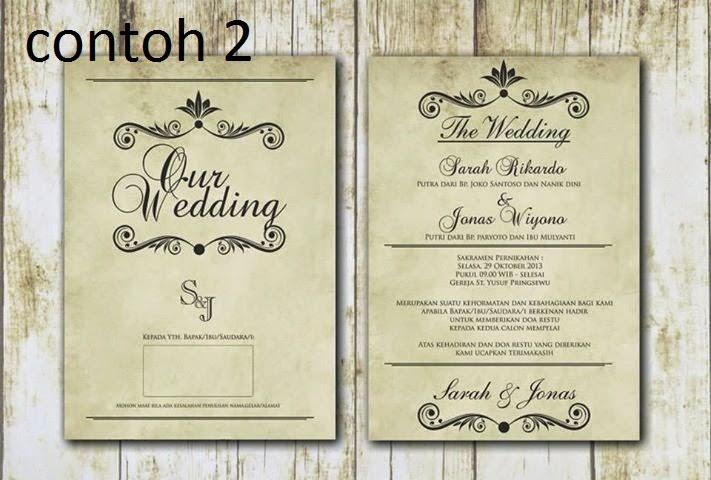 Kumpulan Aneka Contoh desain Undangan Pernikahan Unik