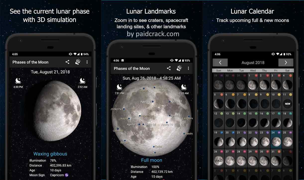 Phases of the Moon Calendar & Wallpaper Pro Mod Apk 6.1.9