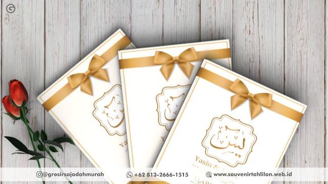 Desain Buku Yasin Elegan |  +62 813-2666-1515