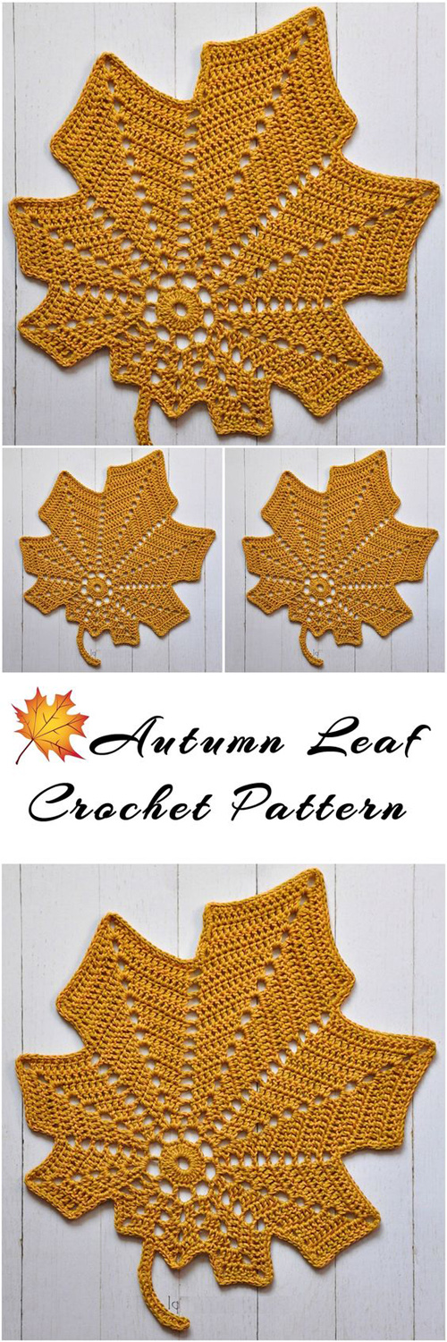 Autumn Leaf - Free Crochet Pattern