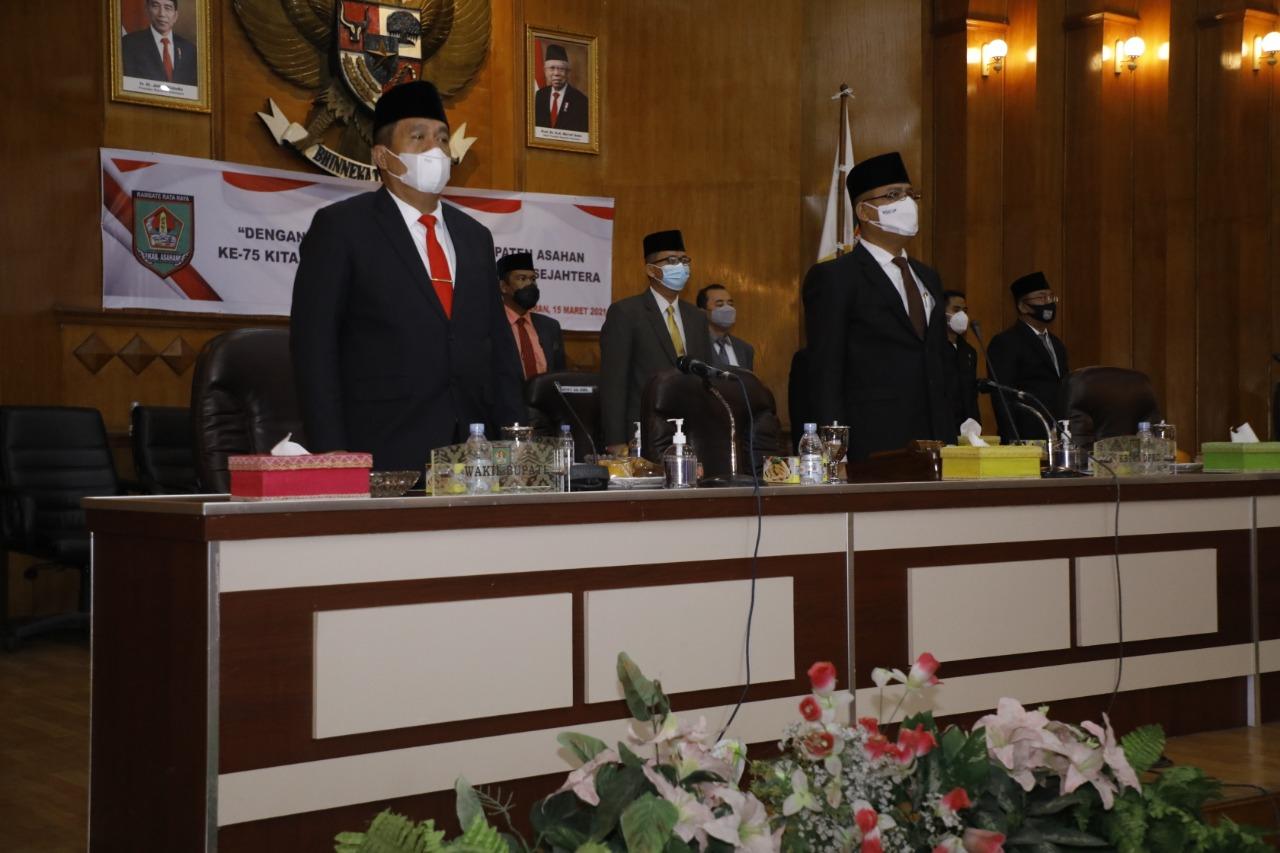 Wakil Bupati Asahan Menghadiri Rapat Paripurna Peringatan Hari Jadi ke 75 Kabupaten Asahan
