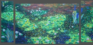 impressionnisme,peinture en tubes,huile crue,pochades,van gogh,toile brute