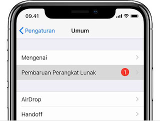 Cara update iphone, ipad dan ipod touch ke ios terbaru lewat OTA