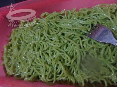 mie basah hijau
