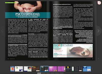 Artículo sobre PsicoFertilidad en la Revista Universo Holístico
