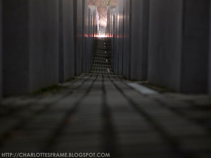 Holocaust memorial at night, holocaust memorial